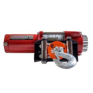 Runva Recovery Electric Winch with Synthetic Rope - 12 V - 3,500-lb - 3.2 HP Motor