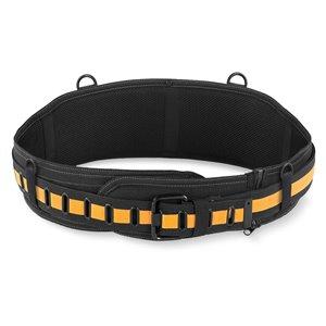 ToughBuilt Padded Belt: Back Support/Steel Buckle - 32-in to 48-in - Black
