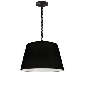Dainolite Brynn Pendant Light - 1-Light - 14-in x 7-in - Black