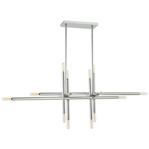 Dainolite Kanata Pendant Light - 16-Light - 40-in x 14.25-in - Polished Chrome