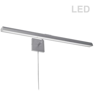 Dainolite Leonardo Picture Light - 40 Watts - 32-in - Satin Chrome