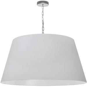 Dainolite Brynn Pendant Light - 1-Light - 32-in x 16-in - Polished Chrome/White