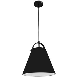 Dainolite Emperor Pendant Light - 1-Light - 13-in x 11-in - Black