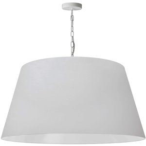 Dainolite Brynn Pendant Light - 1-Light - 32-in x 16-in - White