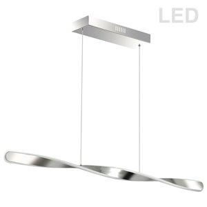 Dainolite Finn Pendant Light - 1-Light - 40-in x 2-in - Polished Chrome