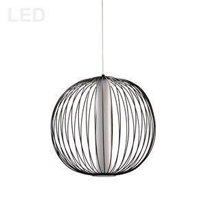 Dainolite Charlotte Pendant Light - 4-Light - 17-in x 15.75-in - Matte White/Matte Black