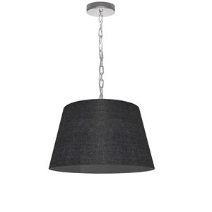 Dainolite Brynn Pendant Light - 1-Light - 14-in x 7-in - Polished Chrome