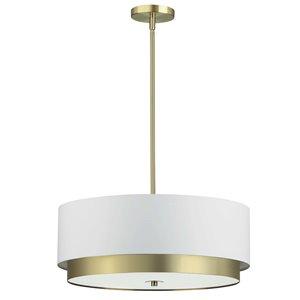Dainolite Larkin Pendant Light - 4-Light - 20-in x 7-in - Aged Brass