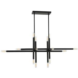 Dainolite Kanata Pendant Light - 16-Light - 40-in x 14.25-in - Matte Black