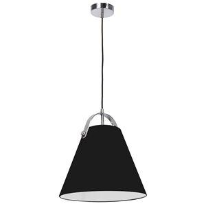 Dainolite Emperor Pendant Light - 1-Light - 13-in x 11-in - Polished Chrome/Black