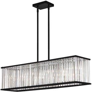 Dainolite Aruba Pendant Light - 7-Light - 35-in x 8-in - Matte Black