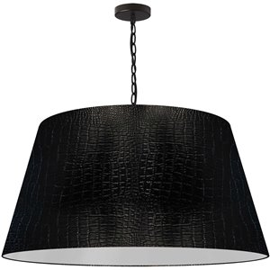 Dainolite Brynn Pendant Light - 1-Light - 32-in x 16-in - Black