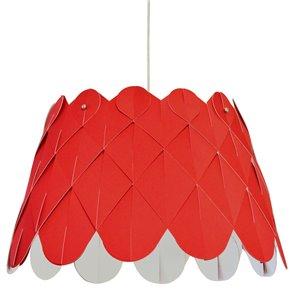 Dainolite Amirah Pendant Light - 1-Light - 20-in x 13-in - Polished Chrome/Red