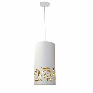 Dainolite Flora Pendant Light - 1-Light - 8-in x 16-in - Matte White