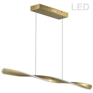 Dainolite Finn Pendant Light - 1-Light - 40-in x 2-in - Aged Brass