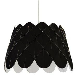 Dainolite Amirah Pendant Light - 1-Light - 20-in x 13-in - Polished Chrome/Black
