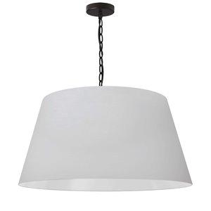 Dainolite Brynn Pendant Light - 1-Light - 26-in x 13-in - Black and White