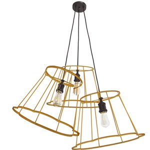Dainolite Belenko Pendant Light - 3-Light - 32-in x 13-in - Matte Black