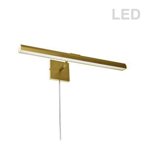 Dainolite Leonardo Picture Light - 30 Watts - 24-in - Aged Brass