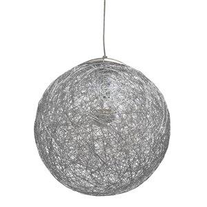 Dainolite Payton Pendant Light - 1-Light - 15.75-in x 15.75-in - Aluminum
