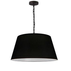 Dainolite Brynn Pendant Light - 1-Light - 20-in x 10-in - Black