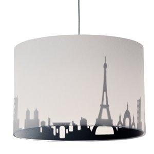 Dainolite Felicity Pendant Light - 1-Light - 15-in x 10-in - Polished Chrome/White