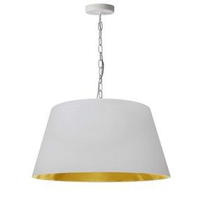 Dainolite Brynn Pendant Light - 1-Light - 20-in x 10-in - White and Gold