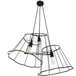 Dainolite Belenko Pendant Light - 3-Light - 32-in x 13-in - Black