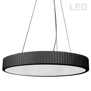 Dainolite Nabisco Pendant Light - 1-Light - 22-in x 2.5-in - Matte Black