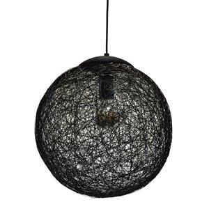 Dainolite Payton Pendant Light - 1-Light - 15.75-in x 15.75-in - Black
