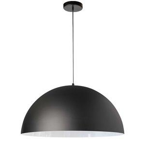 Dainolite Ofelia Pendant Light - 1-Light - 20-in x 10-in - Matte Black