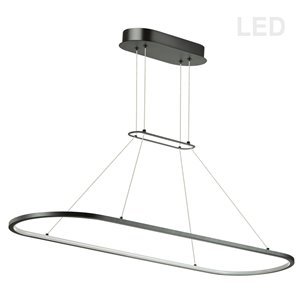 Dainolite Daytona Pendant Light - 1-Light - 40-in x 0.5-in - Matte Black