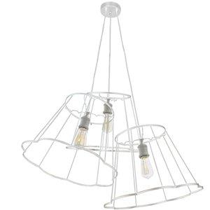Dainolite Belenko Pendant Light - 3-Light - 32-in x 13-in - Matte White