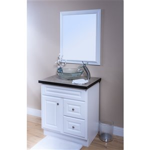 Novatto Best Value Round Vessel Sink - 16-in - Clear Glass/Brushed Nickel
