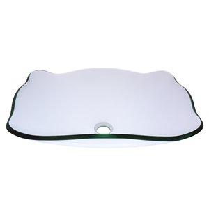 Novatto Elegante  Vessel Sink - 15-in - Clear Glass/Brushed Nickel