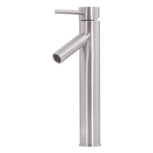 Novatto Topia Single Lever Handle Faucet - 12.5-in - Brushed Nickel