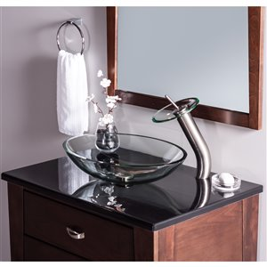 Novatto Falls Single Lever Handle Faucet Set - 11.5-in - Brushed Nickel