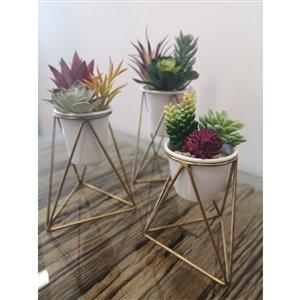 Gild Design House Viola  Decorative Metal Table Top Planter - Set of 3