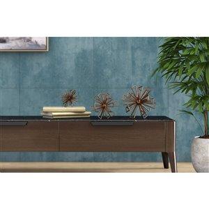 Gild Design House Rossetta Metal Decorative Flower Accessory - Bronze - Set of 3