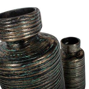 Gild Design House Makari Large Decorative Metal Vase - 18-in