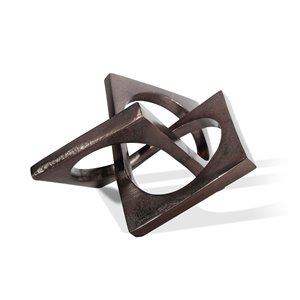 Gild Design House Livia Abstract Decorative Metal Accessory - Bronze - 5-in