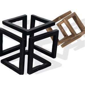 Gild Design House Ryker Decorative Cube Metal Accessory - Set of 2