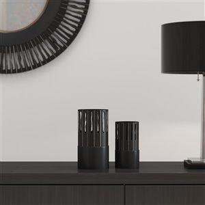 Gild Design House Sadira Decorative Metal Table Vase - Black - Set of 2