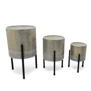 Gild Design House Ambre Metal  Decorative Table Top Planters - Set of 3