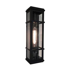 Artcraft Lighting Granger Square SC13112BK Outdoor Wall Light - 5.25-in x 4.75-in x 20-in - Black