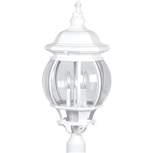 Artcraft Lighting Classico AC8493WH Outdoor Post Light - 11-in x 11-in x 28-in - White
