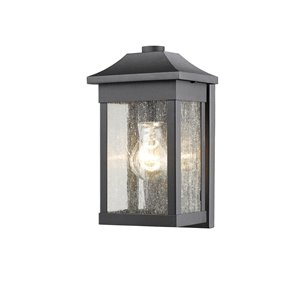 Artcraft Lighting Morgan SC13100BK Outdoor Wall Light - 5.5-in x 5.5-in x 10.5-in - Black