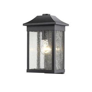 Artcraft Lighting Morgan SC13101BK Outdoor Wall Light - 7-in x 7-in x 13-in - Black
