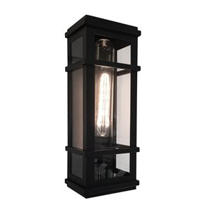 Artcraft Lighting Granger Square SC13111BK Outdoor Wall Light - 4.25-in x 5.25-in x 16-in - Black