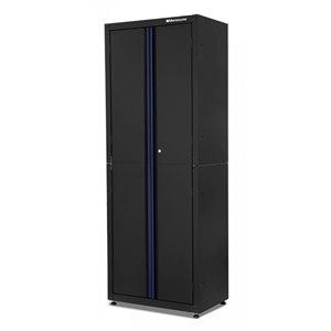 Montezuma Garage Tall Cabinet - 2-Door - Black - 30.5-in x 18-in x 81-in